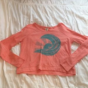 Orange/coral and teal Roxy long sleeve